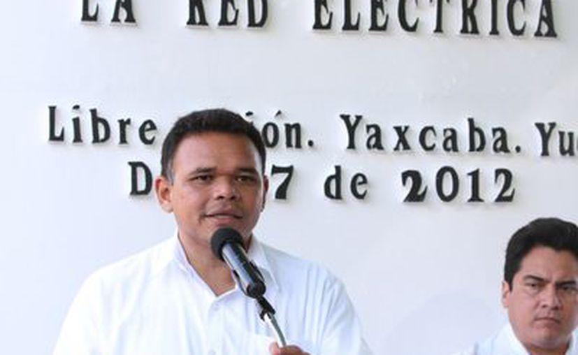 El gobernador Rolando Zapata continúa hoy sus giras por el interior del estado. (Cortesía)