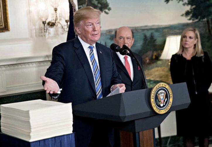 Donald Trump propone que el Pentágono se haga cargo del pago por el muro en la frontera con México: (Foto: NYMag)