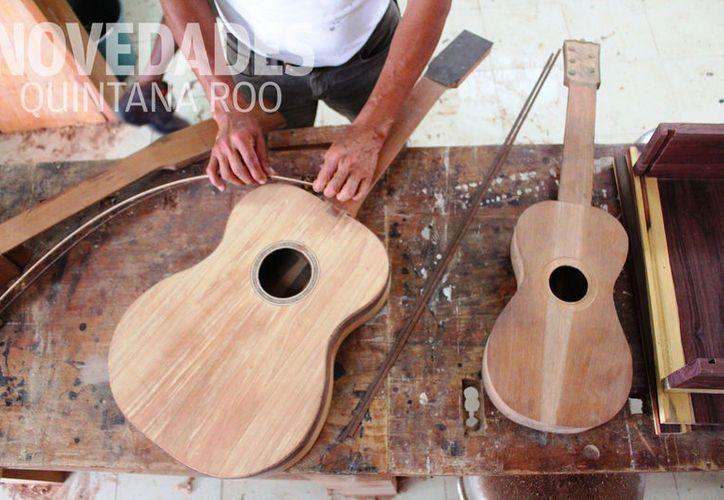 Utilizan madera de la zona maya para la creación de los instrumentos musicales. (Foto: Daniel Pacheco)