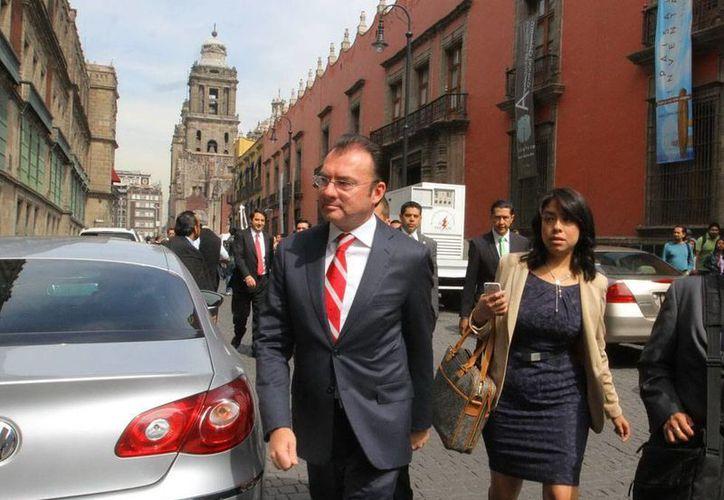 El secretario de Hacienda, Luis Videgaray, insistió en que las reformas legales impulsarán el crecimiento de la economía en los próximos 30 años. (Archivo/NTX)