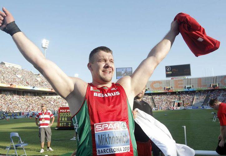 El atleta bieloruso Andrei Mikhnevich., señalado apenas el pasado 8 de marzo como responsable de dopaje. (EFE/Archivo)