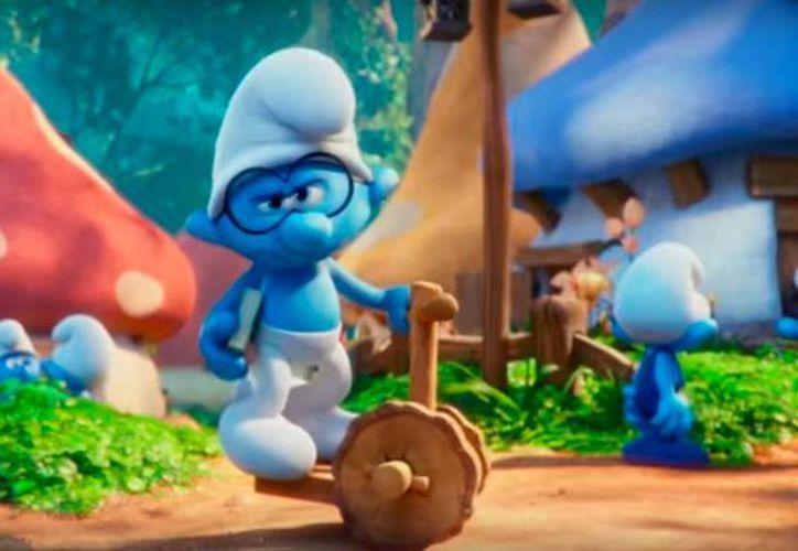 Meghan Trainor estrenó la canción 'I'm lady', tema central de la música de la película 'Los Pitufos. La aldea escondida'. La imagen, de una escena de la cinta animada, está utilizada como contexto. (smurfsmovie.com)