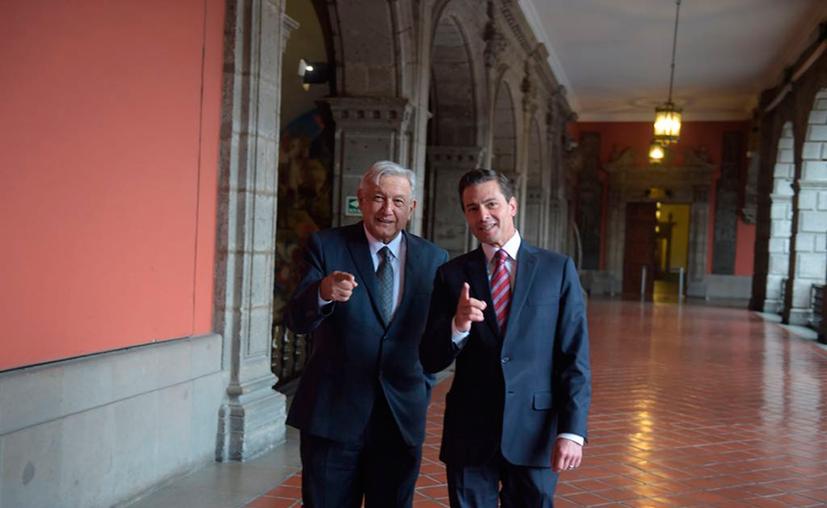 Andrés Manuel López Obrador reconoció la buena voluntad del presidente Enrique Peña Nieto. (Notimex)
