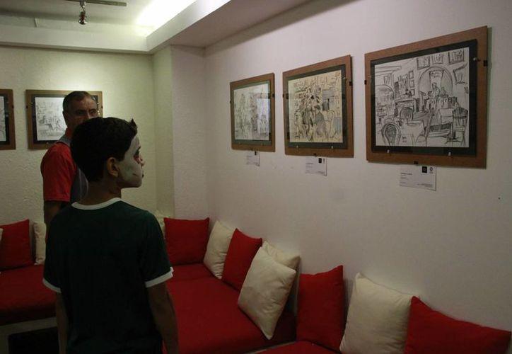 La obra estará abierta al público lo que resta del mes, y a esta le seguirá una exposición de artistas con discapacidad. (Alejandra Flores/SIPSE)