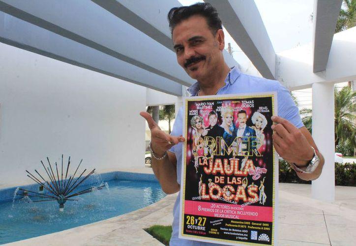Tomás Goros dijo que trasmitirán a los cancunenses una actitud positiva. (Faride Cetina/SIPSE)