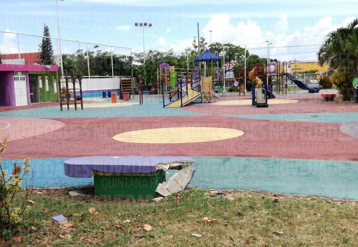La rehabilitación será 'pronta' para que los pequeños puedan disfrutar de estos espacios, ya que se realizaron por y para ellos. (Foto: Joel Zamora/SIPSE).