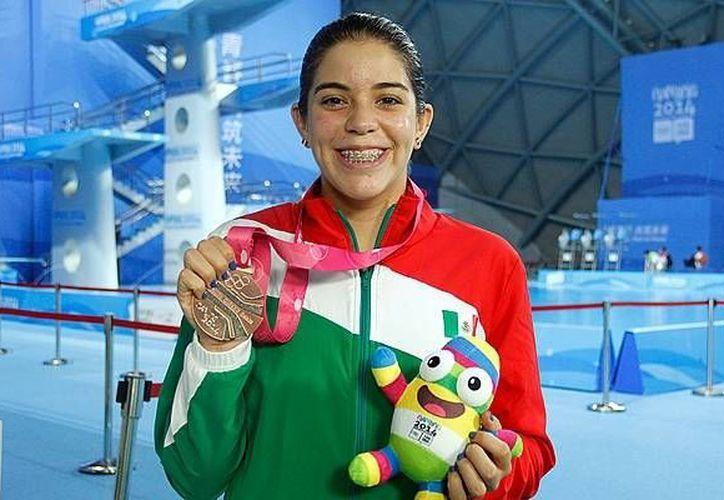Alejandra Orozco (foto) y Jahir Ocampo dieron a México su última medalla en la Serie Mundial de Clavados en Dubai. (mediotiempo.com/Foto de archivo)