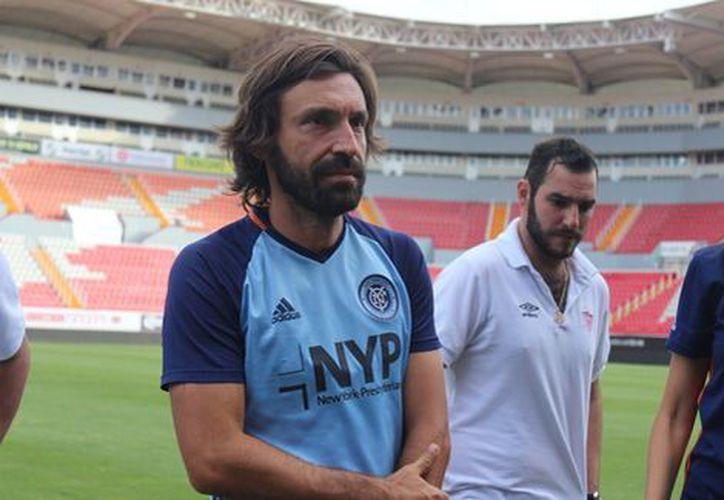 Andrea Pirlo  dejará las canchas de manera profesional el 31 de diciembre de este año. (Zeltzin Zamora).