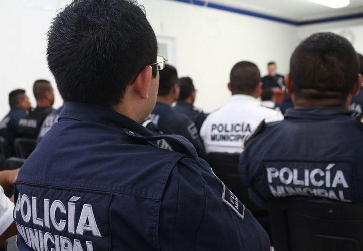 Aseguran la participación de 500 elementos policíacos durante los comicios. (Adrián Barreto/SIPSE)