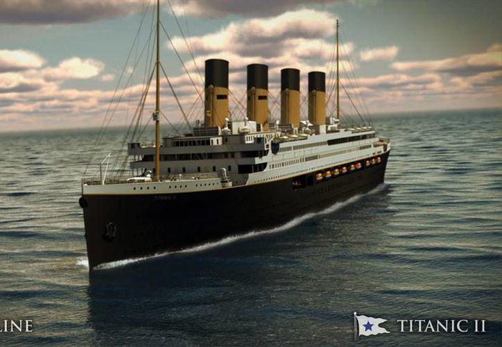 Imagen digital del Titanic II proporcionada por Blue Star Line. (Agencias)