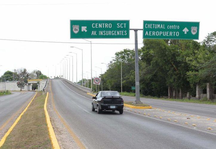 El distribuidor pretende reducir la congestión vehicular de las avenidas De los Insurgentes y la Álvaro Obregón. (Paloma Wong/SIPSE)