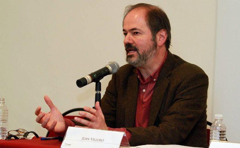 Juan Villoro, reconocido escritor mexicano que inaugurará la Feria Internacional de la Lectura Yucatán 2016 el 12 de marzo. (Notimex)