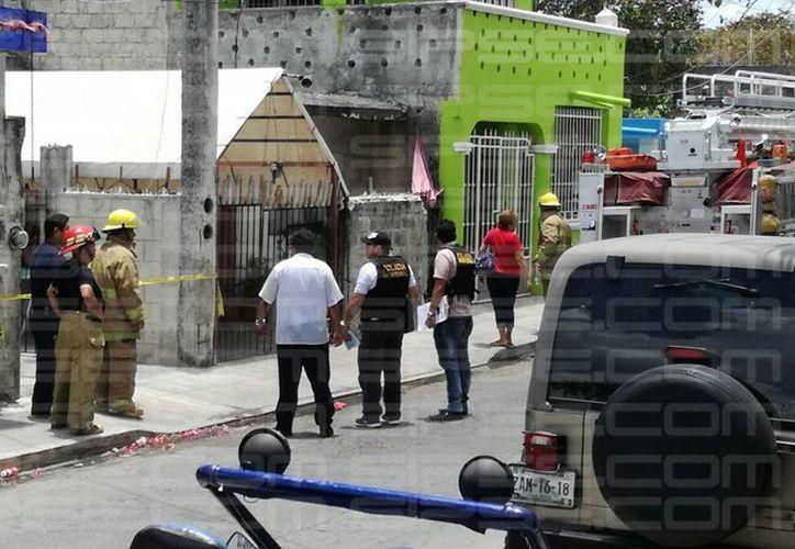 La zona fue acordonada por las autoridades policíacas. (Adrián/ SIPSE)