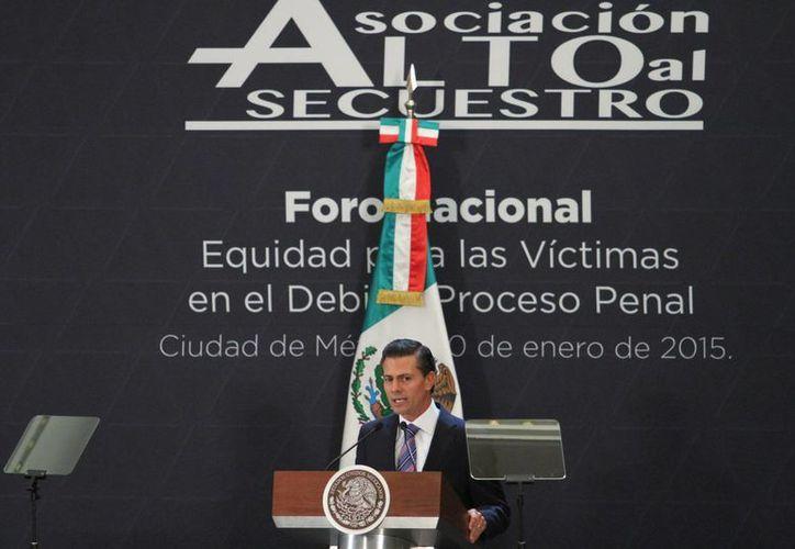 Peña Nieto aseguró que su gobierno está empeñado en incrementar la paz en todo el país. (Notimex)