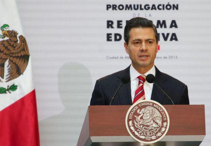 El presidente Enrique Peña Nieto fijó la posición de su Gobierno ante la detención de Elba Esther Gordillo. (Archivo/Notimex)