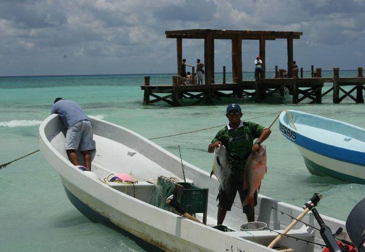 Afiliado a cooperativa dijo que en los últimos dos años la pesca estuvo baja tanto en la comercial como la deportiva. (Adrián Barreto/SIPSE)
