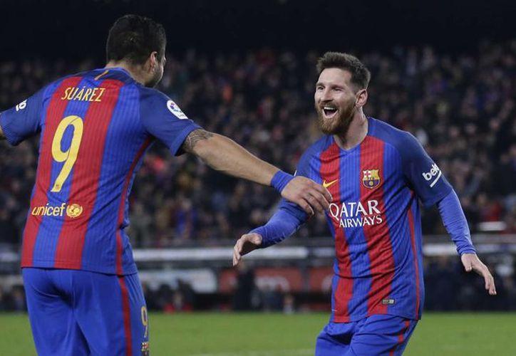 Lionel Messi tuvo un brillante encuentro ante el Espanyol de Barcelona, luego de anotar un gol y ser parte de las otras tres anotaciones.(Manu Fernández/AP)