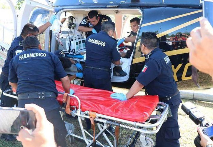 La niña fue trasladada en helicóptero de Tizimín a Mérida para su atención. (Milenio Novedades)