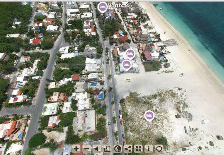 Las páginas funcionan con Google Maps. (Sergio Orozco/SIPSE)