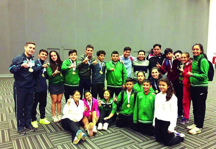 La selección yucateca logró el titulo con 3 medallas de oro, dos preseas plateadas y otro de bronce.(Milenio Novedades)