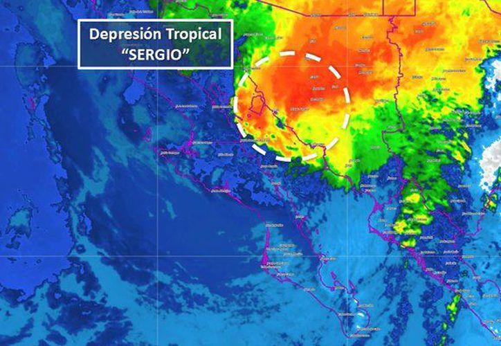El centro de la baja presión se localiza a 180 kilómetros al noreste de Guaymas. (Internet)