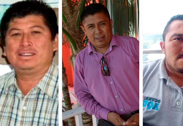 José Guadalupe Chan Dzib, Rubén Pat Cahuich y Francisco Romero Díaz, fueron asesinados en menos de un año. (Redacción/SIPSE)