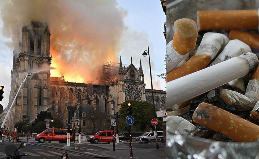 El presidente francés Emmanuel Macron fijó como objetivo concluir en cinco años la reconstrucción de la catedral. (Foto collage: Notimex)