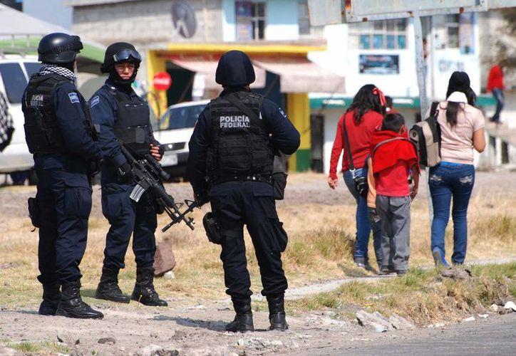 La prisión del Altiplano (Edomex), donde está recluido Joaquín Guzmán Loera, luce con fuerte despliegue de seguridad a sus alrededores. (Notimex)