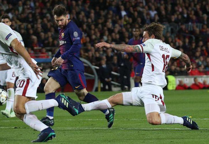 El Barcelona goleó a la Roma en el duelo de ida por los cuartos de final. (REUTERS)