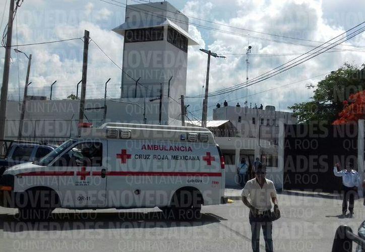 El reo lesionado fue trasladado al Hospital General para su atención médica. (Redacción/ SIPSE)