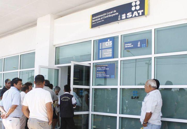 El Servicio de Administración Tributaria emitió un decreto que beneficia a los contribuyentes. (Israel Leal/SIPSE)
