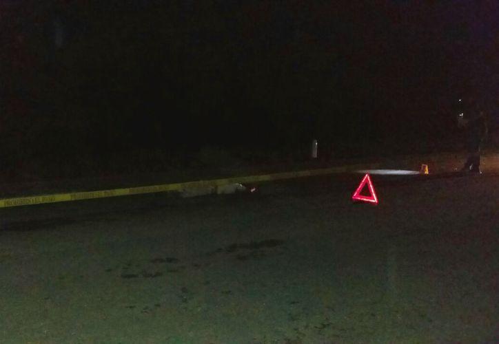 El hombre de 66 años, cayó del vehículo en el tramo XCacapul-Rancho Nuevo. (Foto: Redacción/SIPSE)