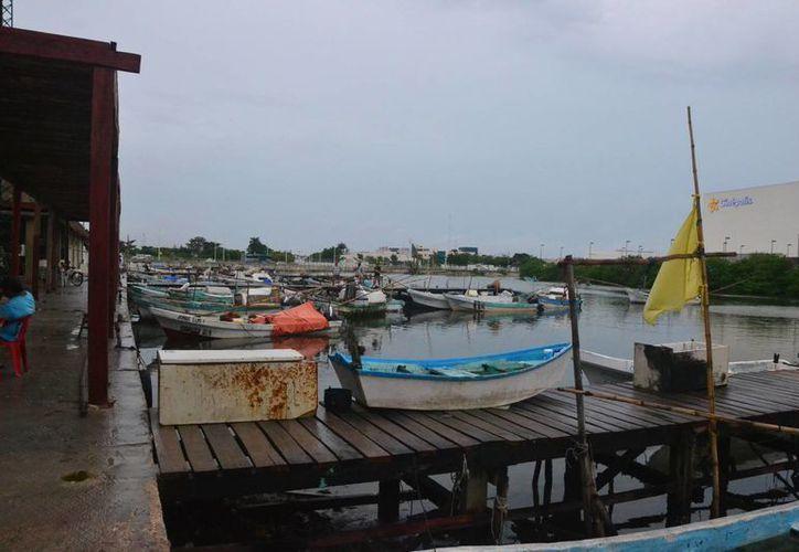 Pescadores de Campeche han asegurado sus embarcaciones ante la presencia de la depresión tropical. (Foto: Novedades de Campeche)