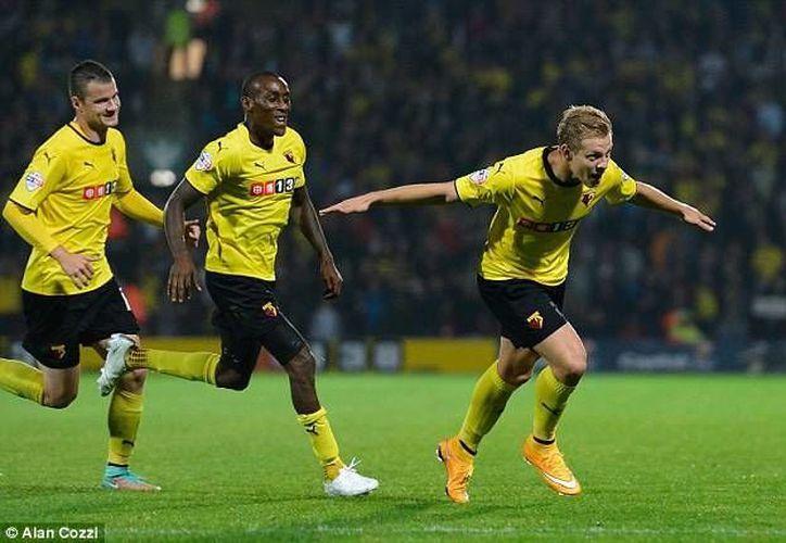El Watford goleó una vez más en la Championship, esta ocasión 7-2 al Blackpool con cuatro goles del nigeriano Odion Ighalo. (dailymail.co.uk/Foto de archivo)