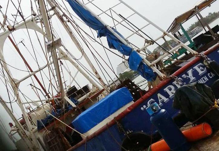 """El barco camaronero """"Careyes I"""", de Ciudad del Carmen. (Manuel Pool/Milenio Novedades)"""