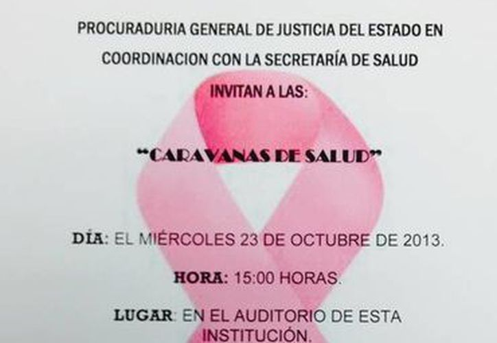 A las 15 horas del miércoles 23 de octubre, se instalará un módulo donde se realizarán pruebas de papanicolaou y exploración de mamas. (Redacción/SIPSE)