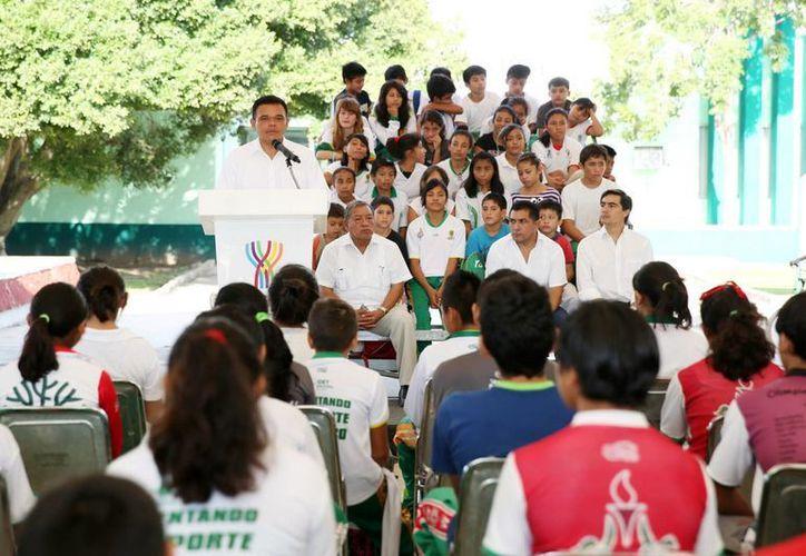 El Gobernador señaló que es tiempo que la Unidad Deportiva Kukulcán esté acorde con su historia. (Milenio Novedades)