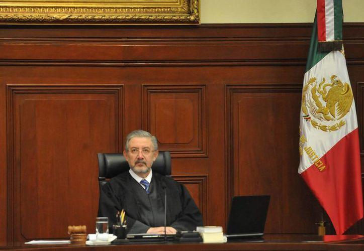 Luis María Aguilar, presidente de la Suprema Corte de Justicia, dijo que en el Poder Judicial se ha impulsado la igualdad mde la mujer. (Archivo/Notimex)