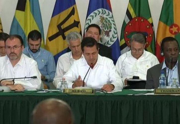 Enrique Peña Nieto presentó una estrategia de Gestión Integral de Riesgos de Desastres. (Twitter: @PresidenciaMX).