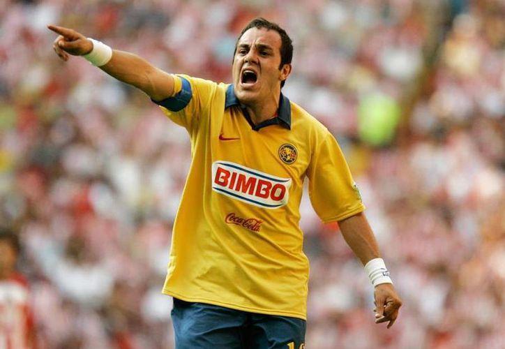 Imagen de Cuauhtémoc Blanco cuando jugaba en el Club América (clubamericanista.com.mx)