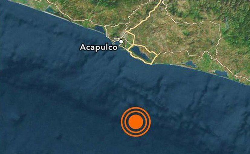 El Servicio Sismológico Nacional informó acerca de un sismo de magnitud 4.9 en la escala de Richter, con epicentro en Guerrero, a las 7:17 horas. (@SkyAlertMx)