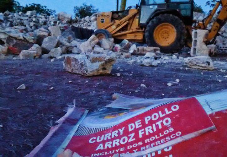 El edificio que durante muchos años ocupó el restaurante de comida china La Nao, en Mérida, fue totalmente destruido. Aún no se sabe qué se construirá en ese lugar. (Eduardo Vargas/SIPSE)