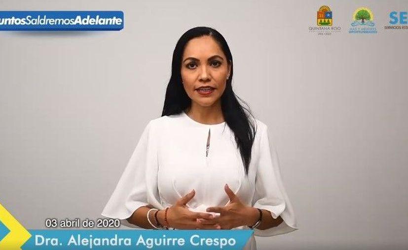 Captura de Pantalla / Lic. Alejandra Aguirre Crespo
