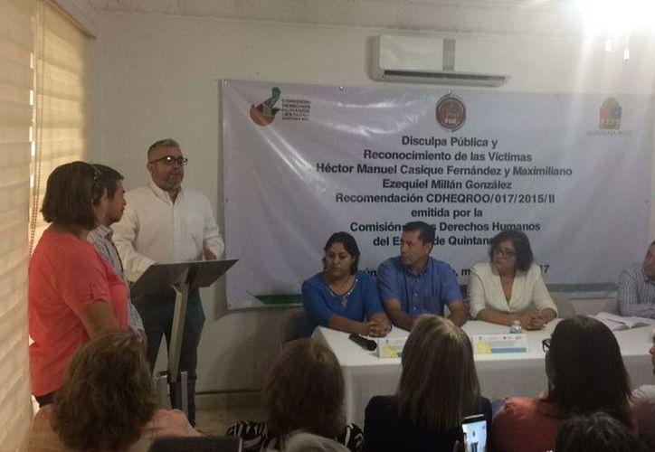 El año pasado, la Fiscalía ofreció disculpas a Héctor Casique Fernández. (Redacción/SIPSE)