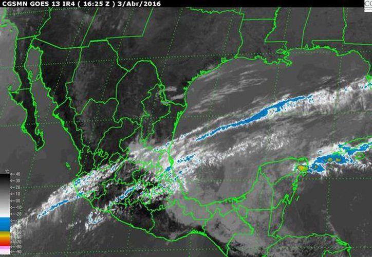 Las lluvias serán muy fuertes en Quintana Roo y fuertes en Veracruz, Oaxaca, Chiapas, Tabasco, Campeche y Yucatán. (smn.cna.gob.mx)