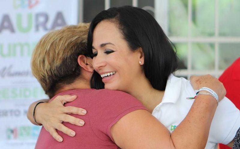 La candidata de la coalición Por Quintana Roo (PRI-PVEM-Panal), Laura Fernández Piña, se comprometió a rescatar más espacios públicos. (SIPSE)