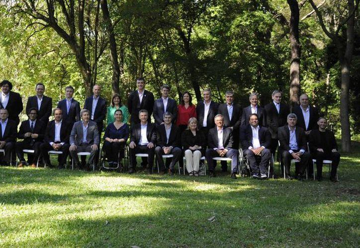 El presidente electo de Argentina, Mauricio Macri, presentó el 2 de diciembre de 2015, en el jardín Botánico de Buenos Aires, al equipo con el que liderará el Poder Ejecutivo Nacional. (Notimex)
