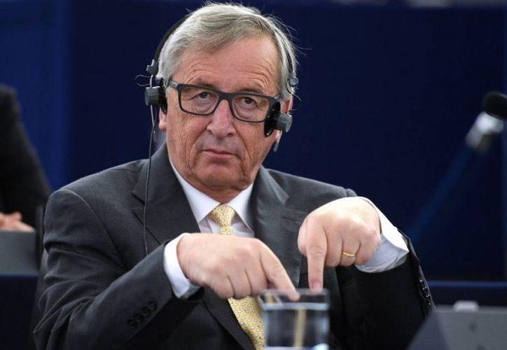 Juncker daba una rueda de prensa sobre migración junto con el vicepresidente de la Comisión Europea, Maros Sefcovic. (Foto: Contexto/Internet)