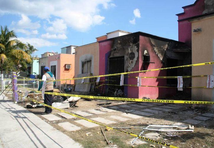 Las viviendas sufrieron afectaciones cuando explotaron unos cilindros por el trasiego ilegal de gas. (Archivo/SIPSE)