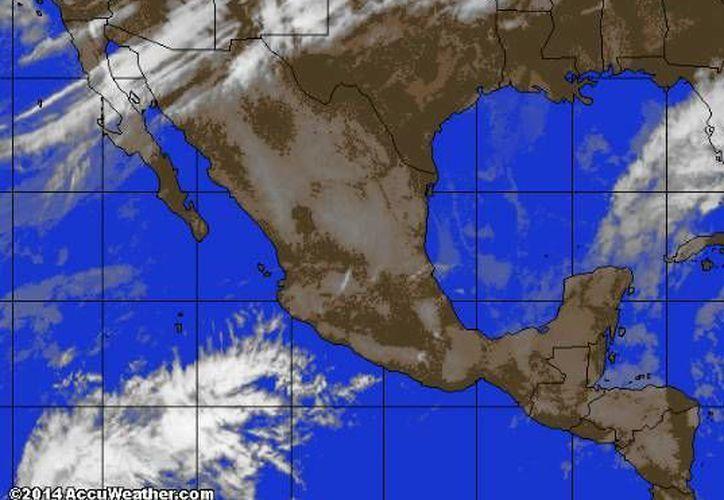 El frente frío número 31 se encuentra ubicado al norte y occidental de la Península de Yucatán. (www.accuweather.com)